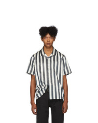 VISVIM Black And Off White Free Edge Shirt