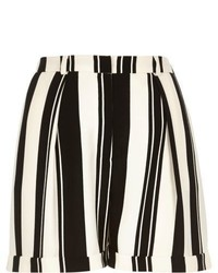 River Island Black And White Stripe Satin Smart Shorts