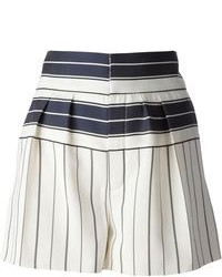 Chloé High Waisted Striped Shorts