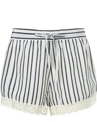 Macgraw White Lace Trim Fountain Shorts