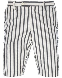 White and Black Vertical Striped Shorts for Men | Men's Fashion