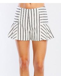 White Black Stripe Skort