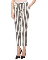 Altuzarra Henri Engineer Striped Cigarette Pants Whiteblack