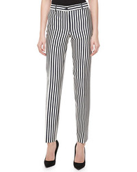 Michael Kors Samantha Striped Shantung Pants Michl Kors