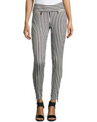 Nina striped stretch pants medium 239514
