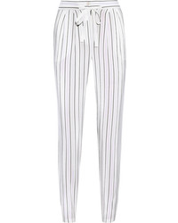 Striped silk crepe de chine tapered pants medium 239512