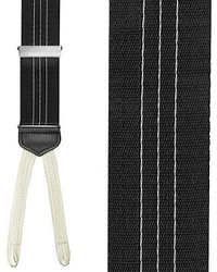 White and Black Vertical Striped Suspenders