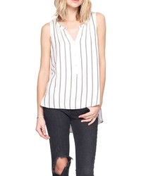 White and Black Vertical Striped Tank