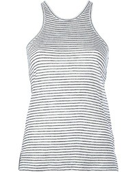 Alexander Wang T By Striped Front Tank