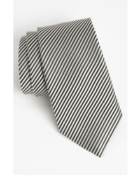 White and Black Vertical Striped Tie