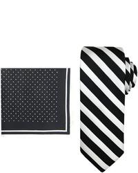 Asstd National Brand Steve Harvey Striped Tie And Pocket Square Set