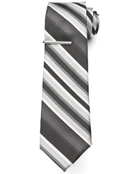 Apt. 9 Big Tall Extra Long Landslide Striped Tie With Tie Bar