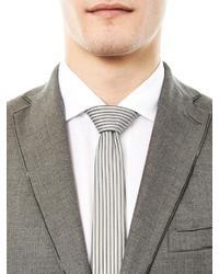 Balenciaga Hologram Striped Silk Tie