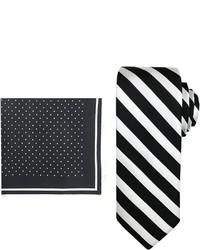 Asstd National Brand Steve Harvey Striped Tie And Pocket Square Set Extra Long