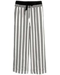H&M Silk Blend Grosgrain Pants