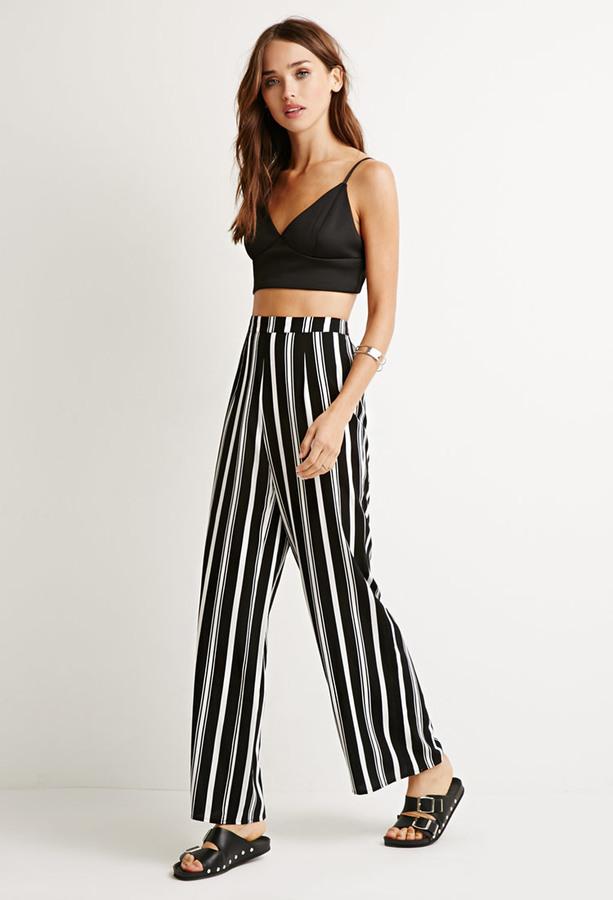 Forever 21 Stripe Wide Leg Pants 17 Forever 21 Lookastic