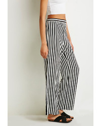 Forever 21 Striped Satin Wide Leg Pants   Where to buy & how to wear