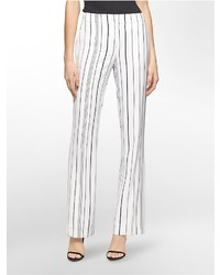 Calvin Klein Wide Leg Striped Pants