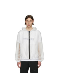 Givenchy White Transparent Windbreaker Jacket