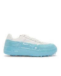 424 Off White And Blue Dipped Sneakers