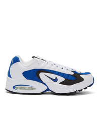 Nike White And Blue Air Max Triax Sneakers