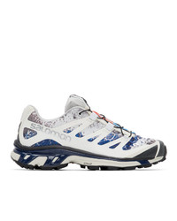 Salomon White And Blue Limited Edition Xt 4 Adv Sneakers