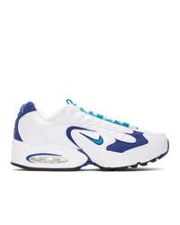 Nike White And Purple Air Max Triax 96 Sneakers