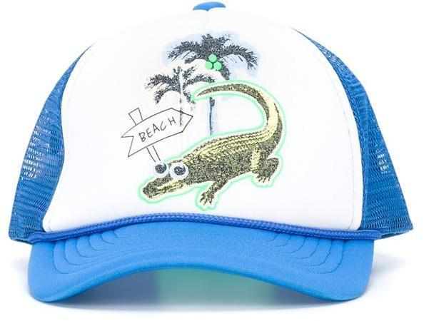 Stella McCartney Kids Crocodile Print Baseball Cap
