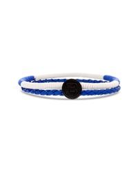 White and Blue Bracelet