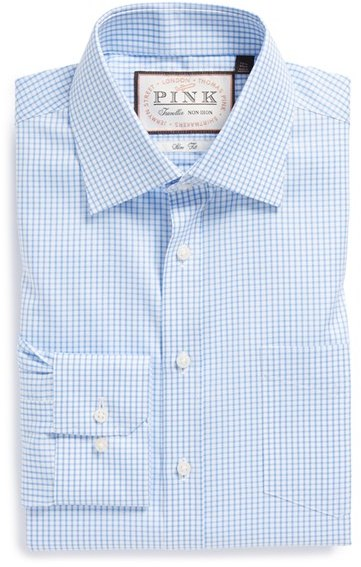 Thomas Pink Slim Fit Non Iron Check Dress Shirt | Where to buy ...