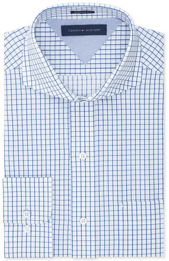 f62eb8da3 Tommy Hilfiger Easy Care Check Dress Shirt, $69 | Macy's | Lookastic.com