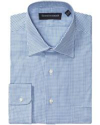 Kenneth gordon check dress shirt medium 191155