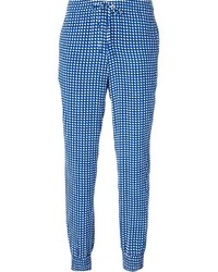 Check pattern tapered trousers medium 215439