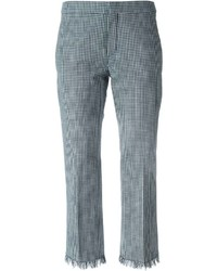 Chloe gingham check trousers medium 215440