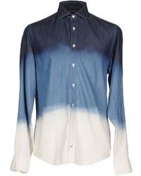 White and Blue Denim Shirt