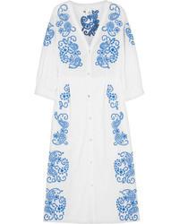 Iris Ink Sienna Embroidered Cotton Dress