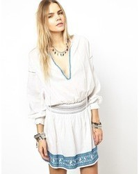Zadig & Voltaire Zadig And Voltaire Rose Dress With Embroidered Waist White