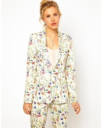Asos Premium Blazer In Floral Print