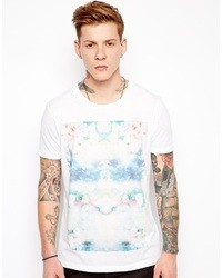 Asos T Shirt With Photographic Floral Print White