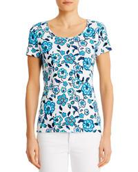 Jones New York Short Sleeve Scoop Neck Cotton Tee Shirt