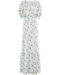 Printed silk maxi dress medium 716219