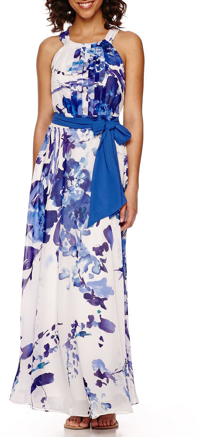 31372c54f980 R K Originals Rk Originals Sleeveless Floral Chiffon Maxi Dress