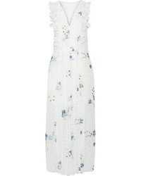 See by Chloe See By Chlo Ruffle Trimmed Printed Fil Coup Maxi Dress Off White