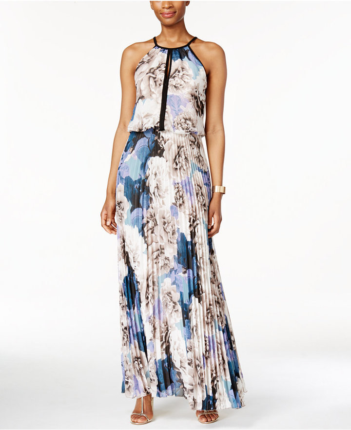 Xscape Evenings Xscape Chiffon Keyhole Halter Maxi Dress | Where to ...