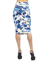Arden B Watercolor Floral Pencil Midi Skirt | Where to buy & how ...
