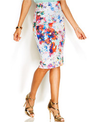 Floral print pencil skirt medium 257119