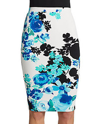 Saks Fifth Avenue RED Floral Print Pencil Skirt
