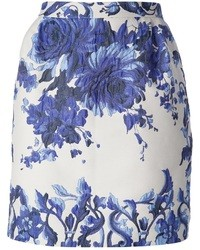 Valentino Floral Jacquard Skirt
