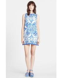 Dolcegabbana tile print brocade shift dress medium 228610