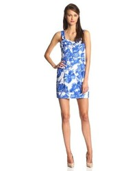 Ivy & Blu Sleeveless Floral Shift Dress With Pockets